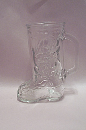 Crystal Glass Cowboy Boot Shaped Beer Mug
