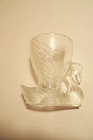 Crystal Glass Swan Toothpick Holder