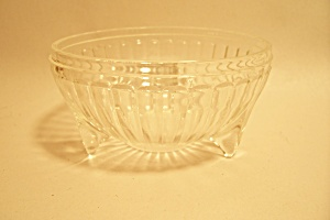 Small 3-footed Crystal Pattern Glass Bowl
