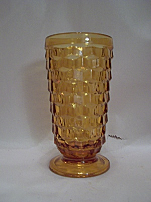 Indiana Glass Amber Southhall Pattern Pedestal Tumbler