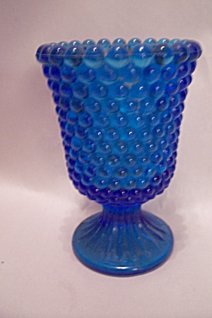 Cobalt Blue Hobnail Glass Toothpick Holder
