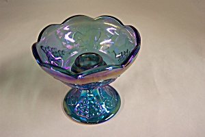 Purple Carnival Glass Grape Panel Candle Holder