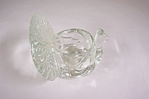 Avon Crystal Glass Turkey Candle Holder