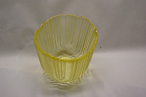 Viking Vaseline Art Glass Small Vase/candle Holder