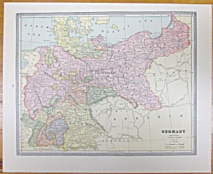 Antique Map Austria Germany Crams 1883