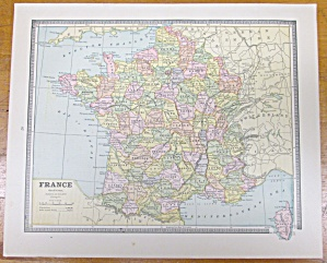 Antique Map France Switzerland Roman Empire Crams 1883