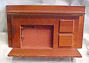 Dollhouse Fireplace Wood Country Style
