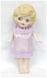All Bisque Doll Flapper Style Big Eyes