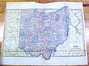 Antique Map Ohio/missouri 1902 Large Crowell