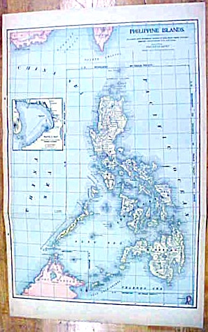 Antique Map Philippine Islands/pacific Ocean 1902 Large