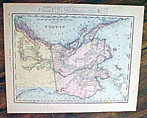 Antique Map Alaska & Canada 1907 Rand Mcnally