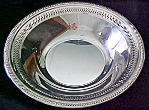 Silver Plated Fruit Bowl Ornate Cut-out Design