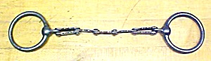Horse Bridle Bit Cast Iron Scalloped Snaffle 1890's
