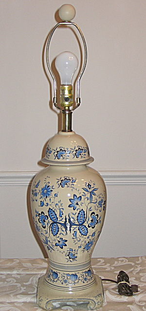 Blue Danube Onion Floral Electric Table Lamp Light
