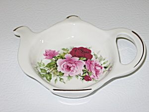Staffordshire Crown Victorian Rose Tea Bag Holder