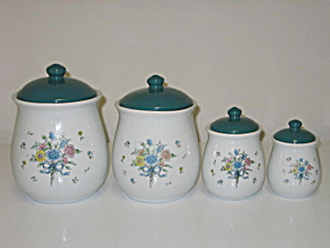 Tabletops Unlimited Victorian Bouquet Canister Set