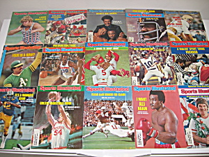 Sports Illustrated 1975 Sept-dec Magazines Lot Of 15