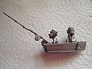 Boyd Perry Fishing Pewter Figurine