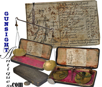 18th Century Cased Balance Scales