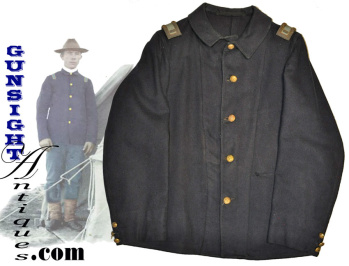 Indian War Era U.s. Army Fatigue Blouse With Original Officer Straps