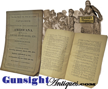 Bangs, Merwin & Co. - 1875 Auction Catalogue - Americana /local & Civil War Histories
