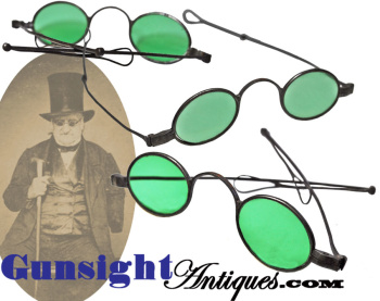 Late 1700s-early 1800s Colored Iron Framed Spectacles