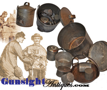 Original And As Found Civil War Vintage Camp Cooking Outfit