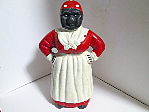 Vintage Cast Iron Aunt Jemima Bank Doorstop