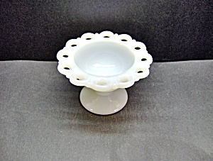 Anchor Hocking Milk Glass Lace Edge Sherber Dish