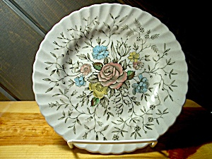 British Anchor Floral Bouquet Bread Plate