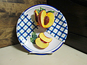 Bella Casa Decorative Fruit Plate Peach