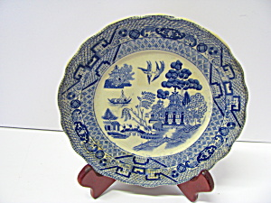 Vintage Buffalo Pottery Willow Salad Plate