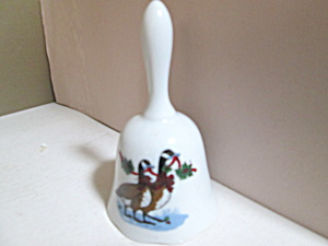 Holiday Potpourri Press Canadian Geese Porcelain Bell
