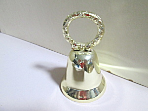 Vintage Solid Brass Christmas Bow Bell