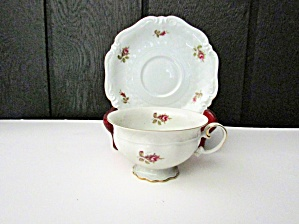 Royal Coburg Red Rose Cup And Saucer Set