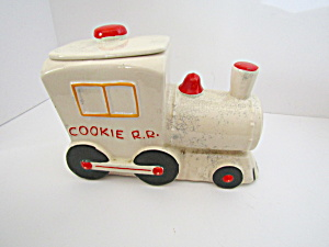 Vintage American Bisque Usa Train Engine Cookie Jar