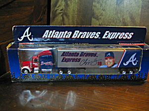 White Rose Atlanta Braves Express Discast Truck