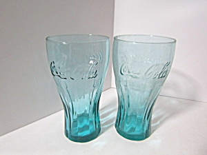 Vintage Coco-cola Evergreen Juniper Teal Soda Glass