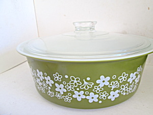 Vintage Corning Pyrex Round 4 Quart Covered Casserole