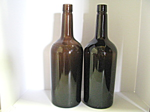 Vintage Seagram & Sons Amber Whisky Bottles