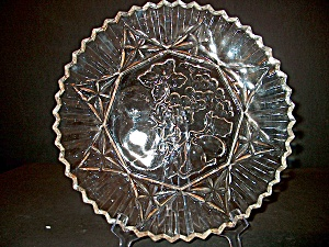 Vintage Plate Crystal Pioneer Line Federal Glass