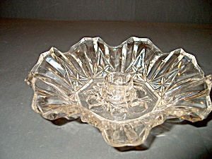 Vintage Candle Holder Crystal Pioneer Line Federal G