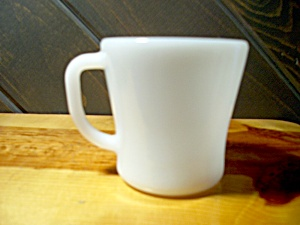 Federal Glass Heavy White Coffee Mug