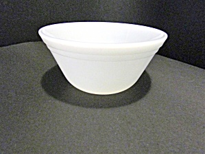Federal Glass Heavy White Mixing Bowl
