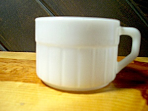 Federal Glass Heavy White Soup Cup/mug/bowl