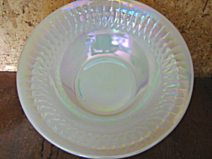 Vintage Federal Glass Moonglow Rimed Cereal Bowl