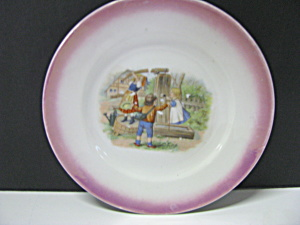 Vintage Childrens Plate Children At The Well