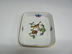 Vintage Herend Handpainted Rothchild Bird Mini Tray