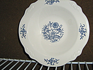 Homer Laughlin Imperial Blue Rimmed Soup Bowl