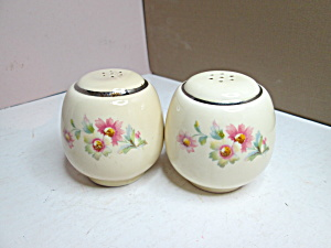 Vintage Homer Laughlin Virgina Rose Salt & Pepper Set